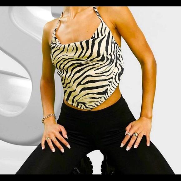 ASOS Zebra Halter Top